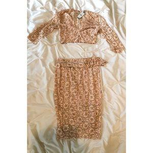 Dresses & Skirts - Matching Skirt and Crop Top Set